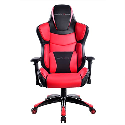 Sedia ergonomica E-Sports, sedia da gioco per computer, sedia da ufficio, sedia da corsa, in pelle, con schienale alto, girevole, con supporto lombare