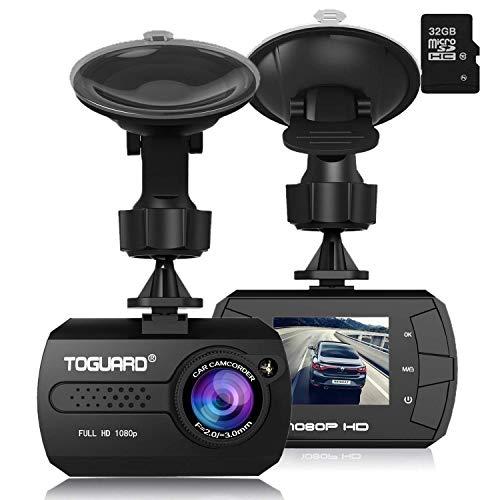 TOGUARD Mini Telecamera per Auto Dash Cam Blackbox Full HD 1080P,...