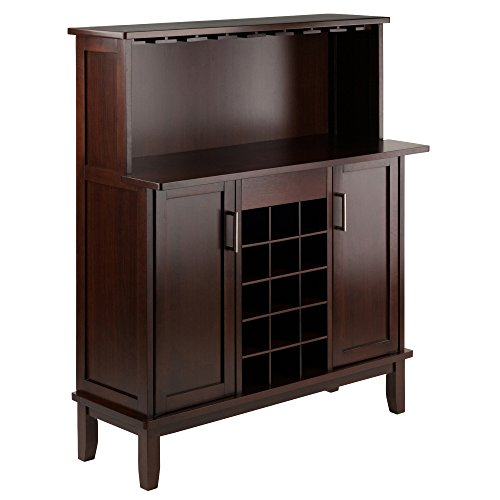 Winsome Beynac Bar Cappuccino Wine Cabinet