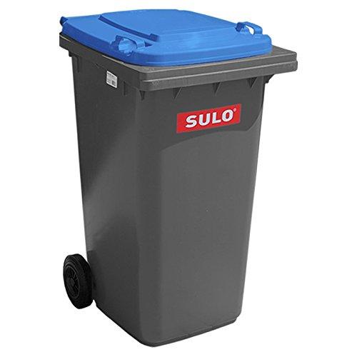 Sulo Müllgroßbehälter 240 grau mit blauem Deckel
