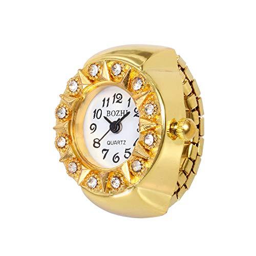 LUXISDE Women s Wrist Watches A Dial Quartz Analog Watch Creative Steel Cool Elastic Quartz Finger Ring Watch