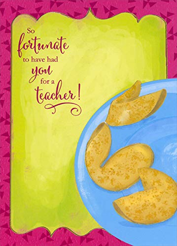 Designer Greetings Fortune Cookies Teacher Appreciation/Thank You Card