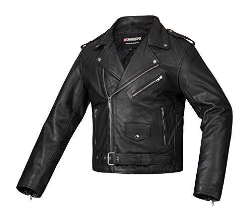 Bohmberg Premium- Chaqueta pesada de motociclista 100% cuero duradero para...