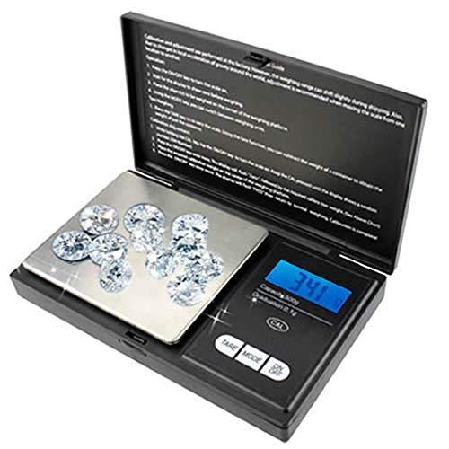 Mini Balança Digital de Bolso, Alta Precisão, Portátil, 500gr, Preto, CBR1049