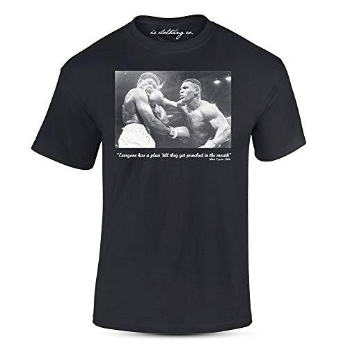 Eisen Mike Tyson Zitat Gelocht Im Mund Schwarz Premium T-Shirt Boxen - Schwarz, L