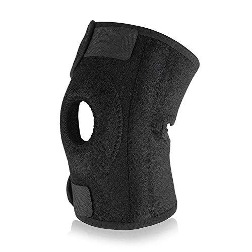 1 St Svart Armbågsskydd,justerbar armbågsbygel andningsfuktande armbågsstöd för armrörelse basket tennis träning fitness