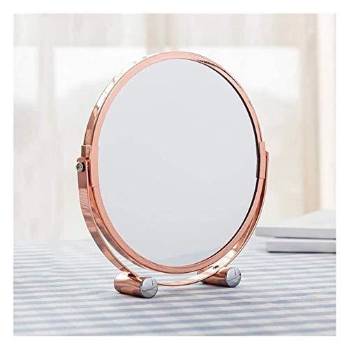 XGJ Espejo de Maquillaje de tocador de Dos Caras con Tablero de Mesa, con Espejo de vanidad Giratorio.