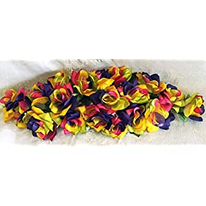 LINESS for 2 ft Artificial Roses Swag Silk Flowers Wedding Arch Table Runner Centerpiece DIY LINESS for Wedding Flowers, Petals & Garlands Floral Décor – Color is Rainbow