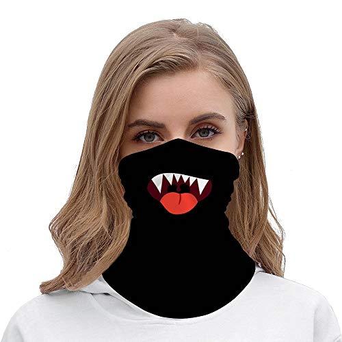 Unisexe Sans couture Foulard Bandana Bouche Épais Lèvres Drôle Cagoule 3D Cagoule Dessin Animé Cagoule pour Moto Randonnée Ski