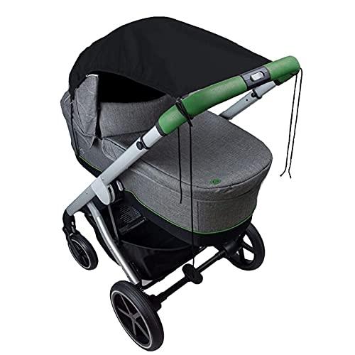 Fauean Universal Sonnensegel für Kinderwagen UV Schutz Beschichtung 50+ Sonnenschutz für Babys Sonnensegel Flexibles Sonnenverdeck für Babywanne - Grau