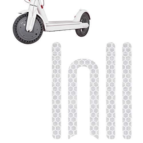 Atuka Reflektierende Streifen Aufkleber vorne und hinten Rad Gummi Aufkleber für Xiaomi Mijia M365 Aufkleber Roller Ersatzteile