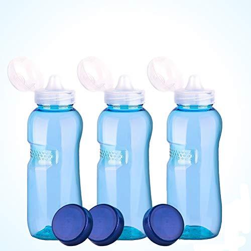 Trinkflasche 3 x 0,75 L Wasserflasche Tritan BPA frei + 3 x Trinkdeckel Flip Top