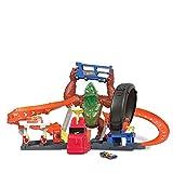 Hot Wheels City Gorila tóxico, pista de coches de juguete con luces y sonidos, incluye 1 vehículo die-cast, regalo para niños +4 años (Mattel HBY95)