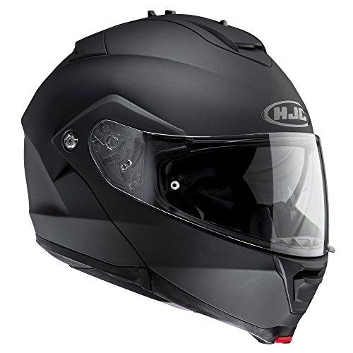 HJC IS-MAX II Motorrad-Helm, mit Flipfront-Schutzscheibe, Herren Damen, 8804269856796, mattes schwarz, xl