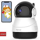 Victure 1080P FHD Caméra de Surveillance WiFi, Caméra IP Sécurité sans Fil avec Vision Nocturne Détection de Mouvement, Caméra Bébé avec Audio Bidirectionnel Pan/Tilt