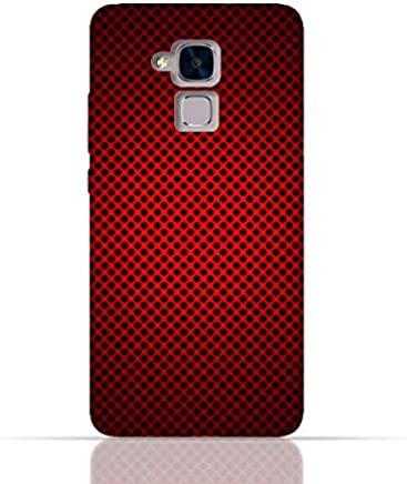 Huawei Honor 5c/Huawei Honor 7 Lite/Huawei GT3 TPU Silicone Case With Abstract Red With Black Dots Pattern