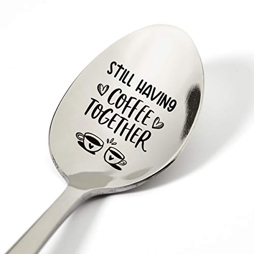 Coffee Spoon Gifts for Couples Wife Husband Friends, Funny Still Having Coffee Together Spoon Engraved Stainless Steel, Coffee Lovers Gifts, Best Birthday Valentine Anniversary Christmas Gift