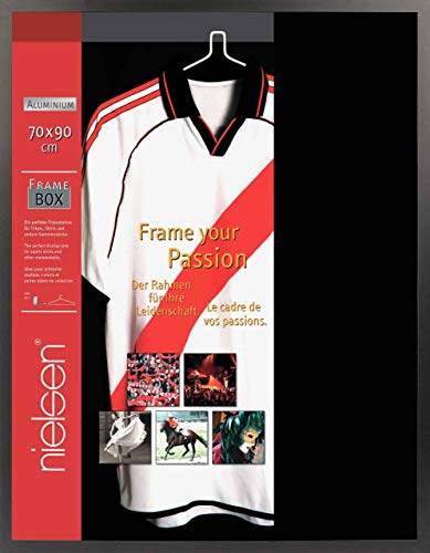 Nielsen Aluminium Bilderrahmen Framebox, 70x90 cm, Eloxal Schwarz Matt, Acrylscheibe