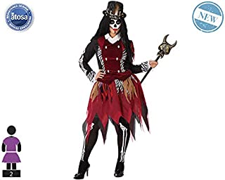 Atosa-61506 Atosa-61506-Disfraz Vudu-Adulto Mujer, Color marrón, XXL (61506