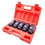 Get JENLEY 1/2-Inch Drive Extra-Deep Impact Socket Set, Inch, Cr-Mo, 6-Point, 1-3/16-Inch - 1-1/2-Inch, 5pc-Sockets Just for $39.49
