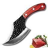 Cuchillo de cocina sin hueso de 5 pulgadas Cuchillo de chef forjado hecho a mano Cuchillo de verduras Cuchilla de carne Matar Pescado Matanza Cuchillo Cuchillo Conjunto de cuchillos de cocina Conjunto
