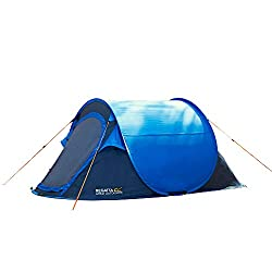 Pop up technology allows quick and easy pitching Waterproof hydrafort 70 D flysheet with 3000 mm hydrostatic head Hardwearing, waterproof sewn in groundsheet Strong and flexible fibre glass poles Internal pockets and lantern hanging point