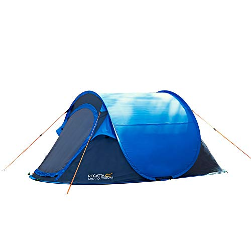 Regatta Kids' Malawi Outdoor Pop-Up Tent, Oxford Blue/Seal Grey