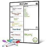 ORGANISIEREN SIE IHRE WÖCHENTLICHEN MAHLZEITEN – Die Tage, an denen Sie ungesunde Mahlzeiten und Snacks gegessen haben, sind vorbei. Die Schreibfläche ist größer als bei anderen Whiteboards, so dass Sie viel Platz für Ihre täglichen Mahlzeiten haben!...
