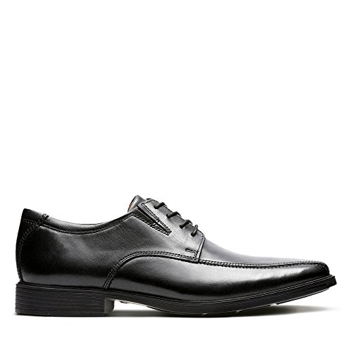 Clarks Men's Tilden Walk Derby, Schwarz (Black Leather), 41.5 EU