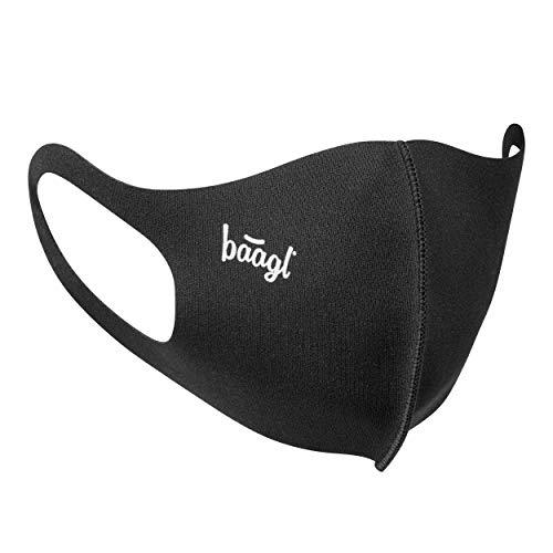 Mund und Nasenschutz Waschbar Schwarz, Mundschutz Maske für Kinder, Schutzmaske Stoffmaske (Logo - Kinder)