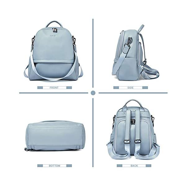 BROMEN Backpack Purse for Women Leather Anti-theft Travel Backpack Fashion College Shoulder Handbag 4