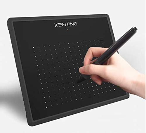 WiseGoods - Tableta gráfica, lápiz sin batería, tableta de dibujo, Plug & Play, 127 x 99 mm.
