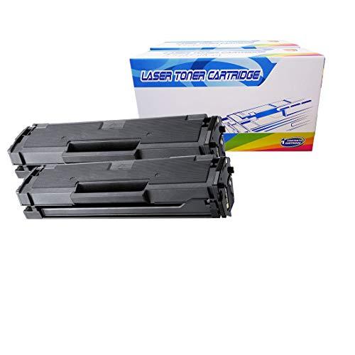 Inktoneram Compatible Toner Cartridges Replacement for Samsung D101S MLT-D101S MLTD101S SCX-3400 SCX-3405 SCX-3405FW SF-760P ML-2164 ML-2164W ML-2165W (Black, 2-Pack)