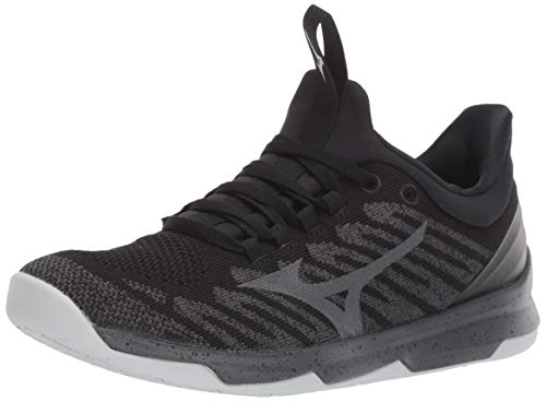 Mizuno Men's TC-01 Cross Training Shoe, Cross Training Sneakers for all forms of Exercise, Black-Grey, 13 D US