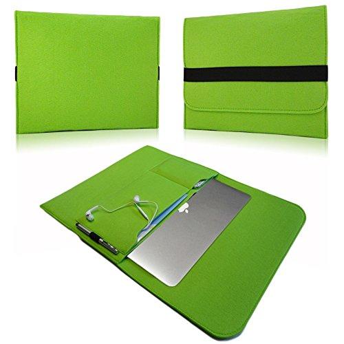 NAUC Laptop Tasche Sleeve Schutztasche Hülle Tablets MacBook Netbook Ultrabook Hülle kompatibel mit Samsung Apple Asus Medion Lenovo, Farben:Grün, Für Notebook:Sony VAIO VPC-Z21C5E