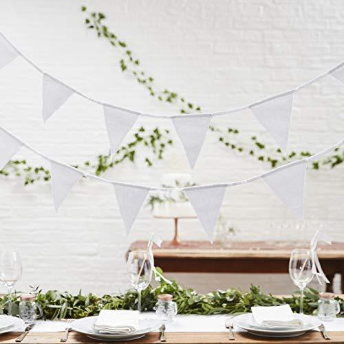 Ginger Ray White Double Sided Fabric Wedding Schöne Botanik