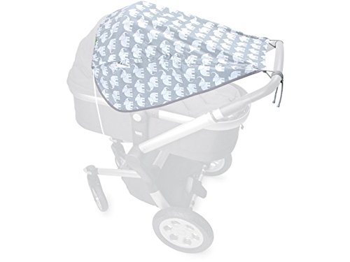 Priebes Sonnensegel Johanna UV Schutz 50+ | Sonnendach mit Seitenschutz | Universal Sonnenschutz | Sonnensegel für Kinderwagen & Buggy