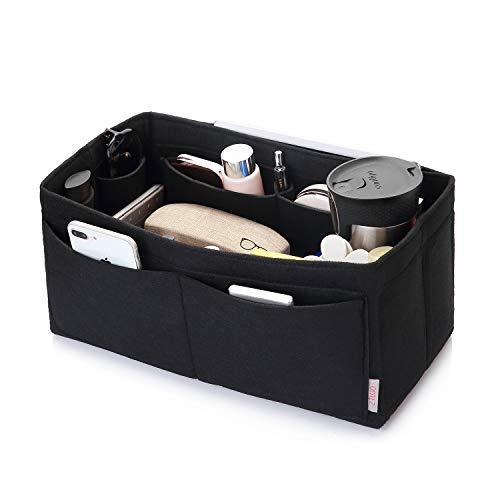 Felt Purse Organizer, Multi Pocket Bag in Bag Organizer For Tote & Handbag Shaper, Speedy 30, Speedy 35 and Speedy 40, Medium, Large, Extra Large(Large, Black)