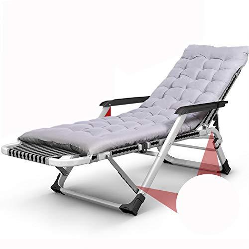 VIVOCC Réglable Fauteuil Zero Gravity Chaise, Pliant Plein air Dossier inclinable Chaises Longues Chaise Longue Canapé-lit avec Le Coussin Epaissir Plage Patio-D 52x66x99cm(20x26x39inch)