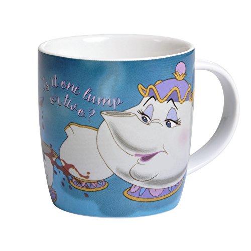 Die Schöne und das Biest Tasse Madame Pottine Tassilo Disney 350ml Keramik blau