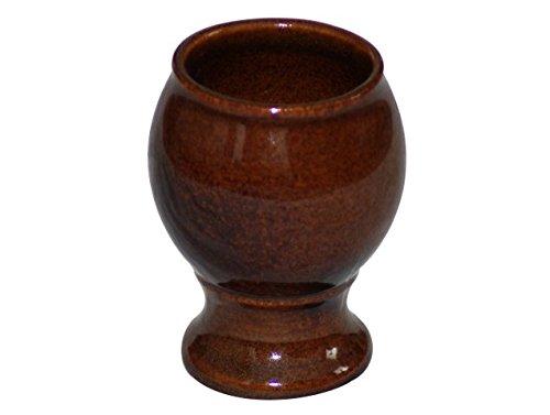 K&K Keramik Weinkelch/Rumtopfkelch aus Steinzeug 0,3 Liter braun-glänzend