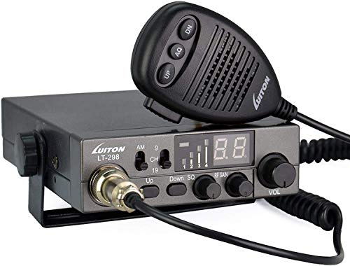 LUITON 40-Channel CB Radio LT-298 Compact Design with External Speaker Jack, Large Easy to Read LED Display Compatible with 12-24V Voltage