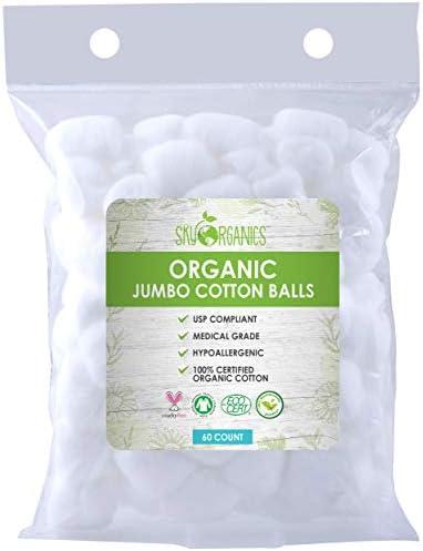 Cotton Balls Organic by Sky Organics 60 ct Fragrance Chlorine Free Cotton Balls 100 Biodegradable product image