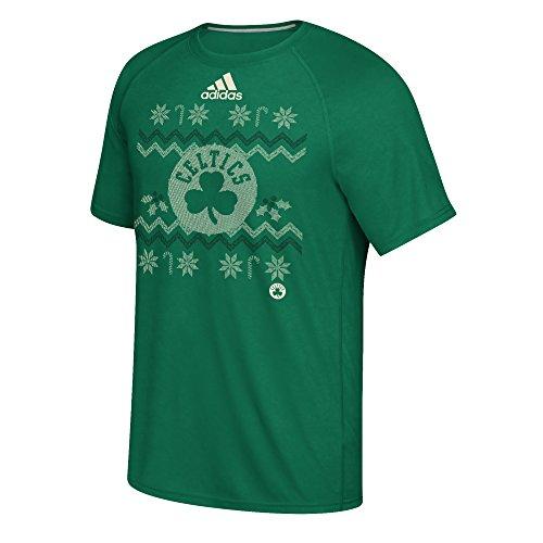 adidas Boston Celtics Green Ugly Sweater Style T-Shirt X-Large