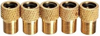 erioctry 5Pcs Converter Presta to Shrader Bicycle Bike Valve Adaptor Tube Pump Parts Tools Gold