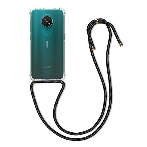 kwmobile Necklace Hülle kompatibel mit Nokia 7.2 - Hülle Silikon mit Handykette - Band Handyhülle Transparent