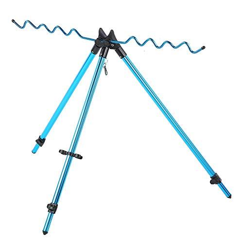 Keenso Fishing Rod Racks,Portable Sea Pole Bracket Tripod Telescopic Fishing Rod Stand Rest Tackle Accessory