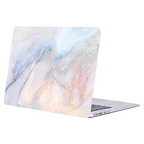 ACJYX Estuche para MacBook Air 13 Pulgadas 2020 2019 2018 Modelo De Lanzamiento A1932 A2179 Carcasa Protectora De Plástico Liso Cubierta Dura para Nueva Versión MacBook Air 13', Mármol Rosa