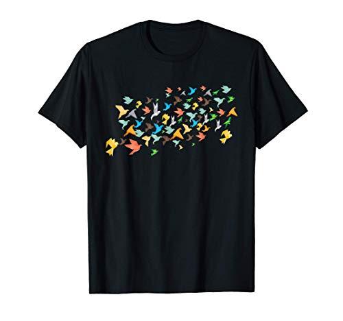 Origami Grulas Japonesas Papeles Origami Pájaros de la Suert Camiseta