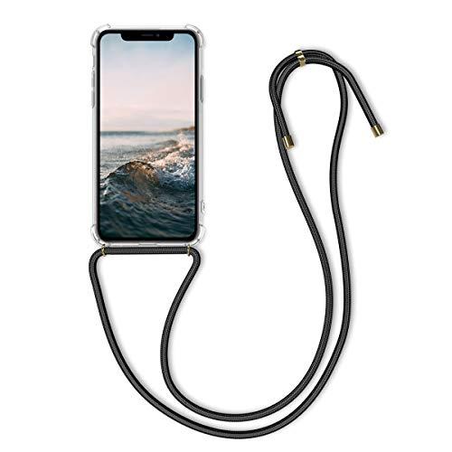 kwmobile Cover a Tracolla Compatibile con Apple iPhone 11 - Back Case in Silicone Cover con Laccio per Il Collo - Custodia con Cordino